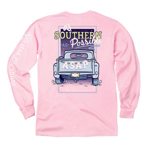 Itsa - Southern As Possible - Long Sleeve - Light Pink
