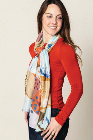 DEM - Rectangle Scarf - Autumn Abstract