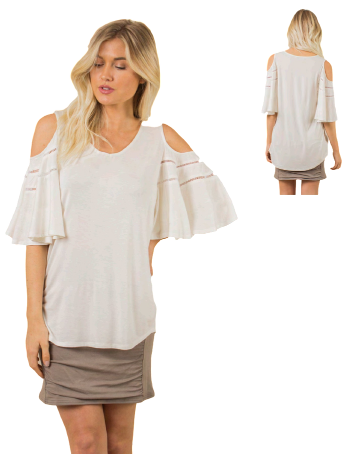 SN - Simply Noelle Wingin' It Cold Shoulder TOp - Large/XLarge (12-14)