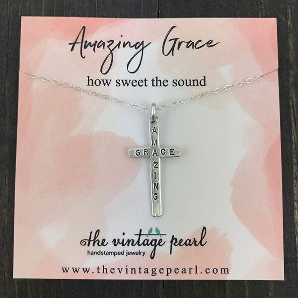 Necklace - Amazing Grace - Sterling Silver
