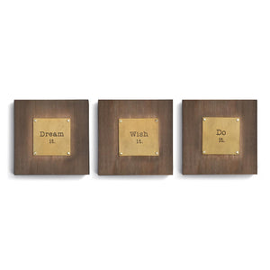DEM - Triptych Wall Art - Dream It. Wish It. Do It.