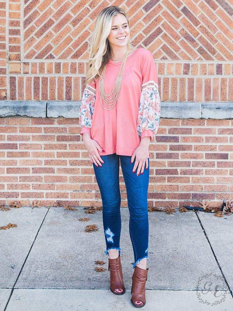 Whisk Me Away Top - Peach