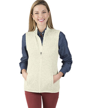 CR 5722 Pacific Heathered Vest - Ivory