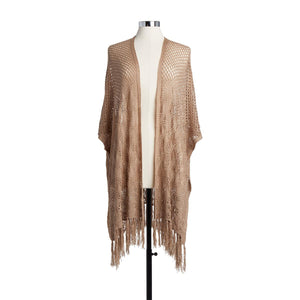 Crochet Duster - Taupe