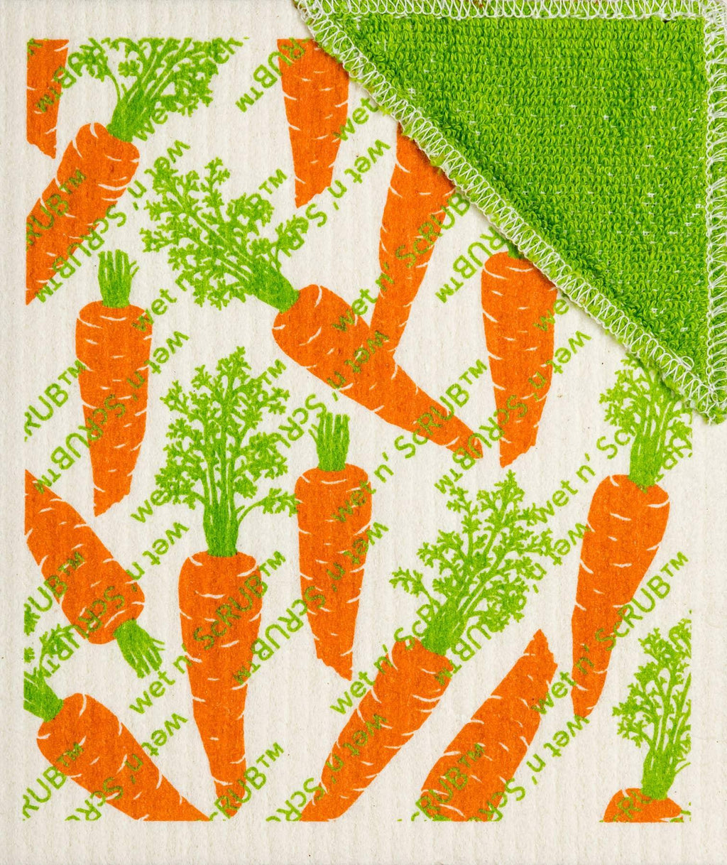 Wet-It! Wet'n Scrub Swedish Cloth - Carrots