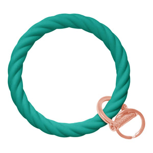 Twisted Bracelet Key Chain - Emerald