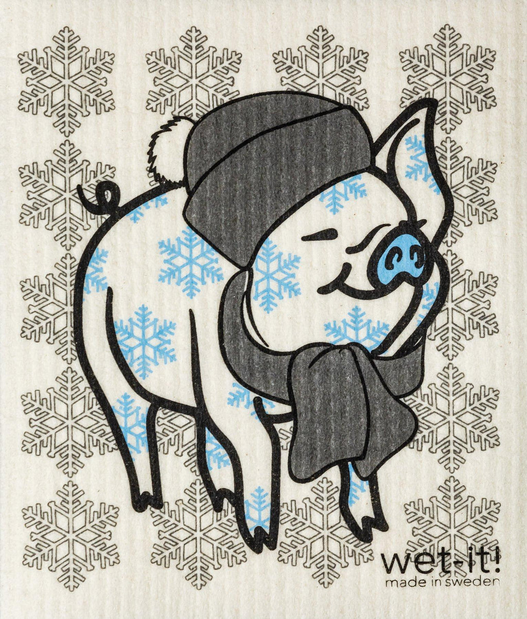 Wet-It! Swedish Cloth - Winter Pig