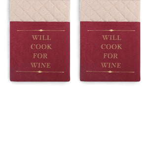 DEM - Double Oven Mitt - Cook For Wine