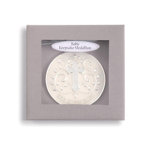 DEM - God Bless Baby Keepsake Medallion - Blue