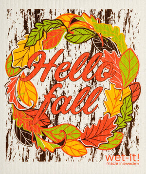 WI - Wet-It! Swedish Cloth - Hello Fall
