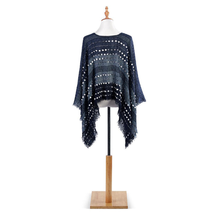 DEM - Textured Poncho - Navy