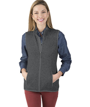 5722 Pacific Heathered Vest - Charcoal