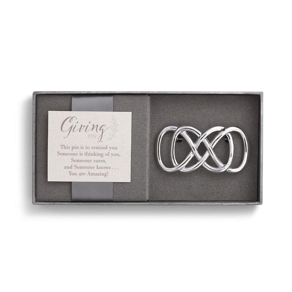 DEM - Giving Pin - Silver Infinity