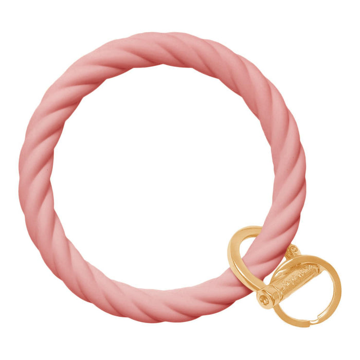 Twisted Bracelet Key Chain - Blush Pink