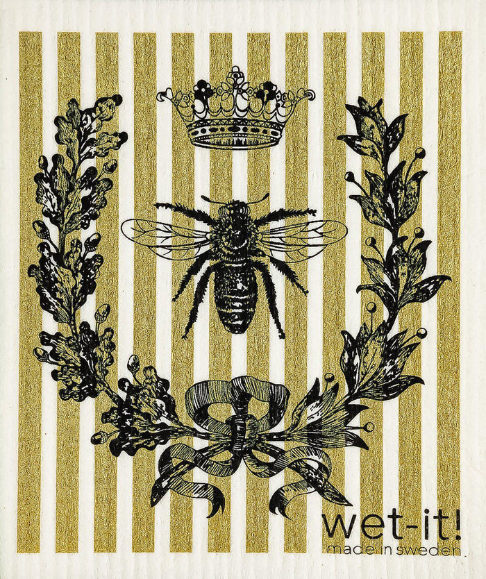 Wi - Wet-It! Swedish Cloth - French Bee Black Gold