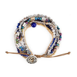 DEM - Beaded Love Bracelet - Indigo