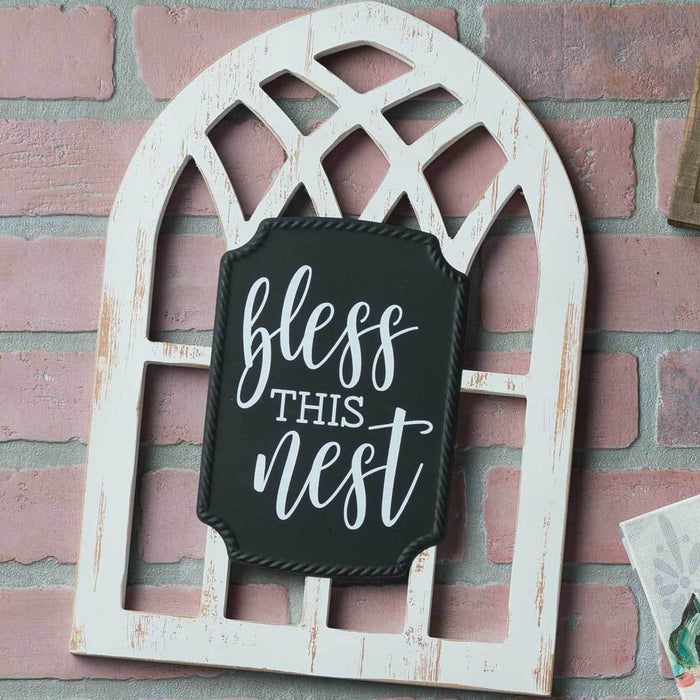 BG - Arched Sign - Bless This Nest