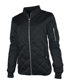 Quilted Boston Flight Jacket 5027 - Black