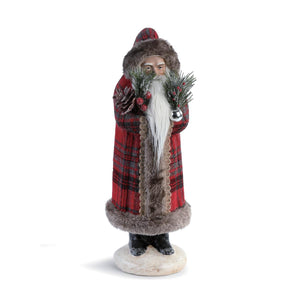 DEM - Christmas Red Plaid Santa Figure