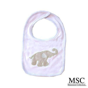 Bib - Stitch Blue Elephant