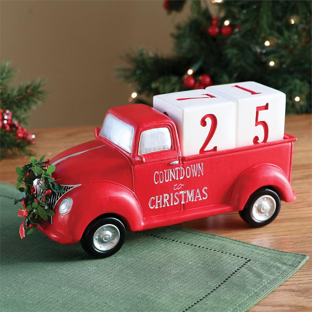 Countdown to Christmas Red Truck Decor