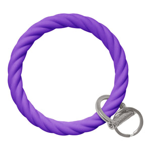 Twisted Bracelet Key Chain - Poppin' Purple