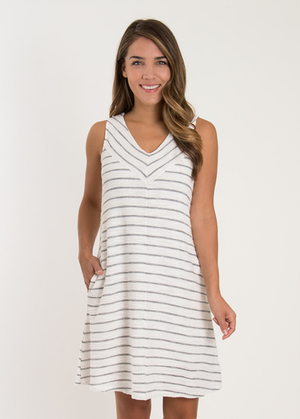 SN - Simply Noelle Terry Stripe Dress - Small/Medium (8-10)