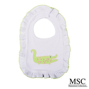 Burp Cloth - Ruffle Pink Alligator