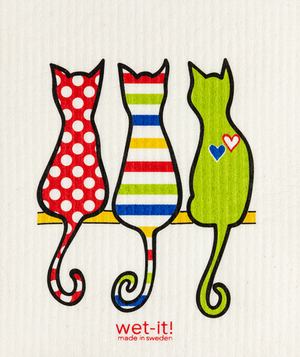 WI - Wet-It! Swedish Cloth - Cat Lover Multi