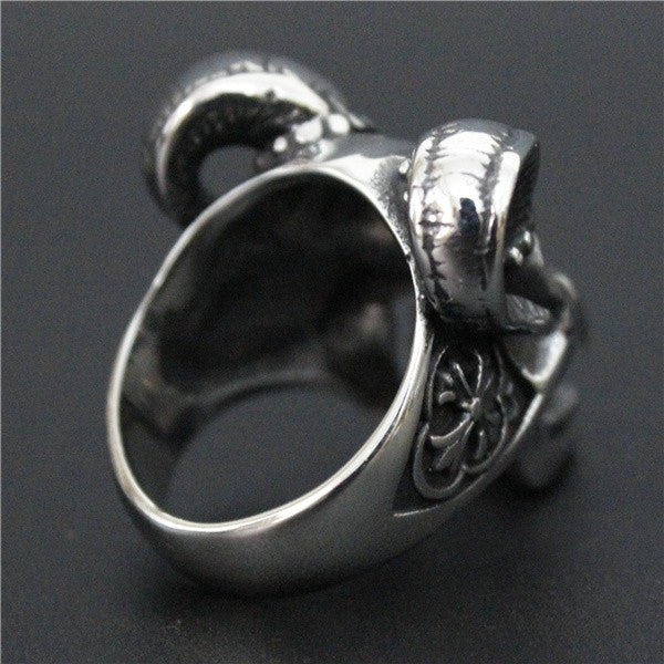 men evil japan shop gothic jewelry ring king design rings bull silver
