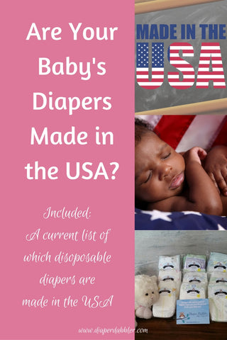 Are Your Baby's Diapers Made in the USA?