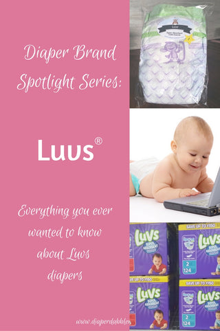 Diaper Brand Spotlight Series Luvs Pinterest image