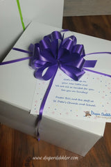 Gift Message Purple Ribbon