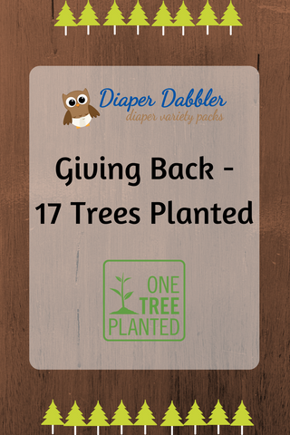 Giving Back - 17 Trees Planted via @diaperdabbler