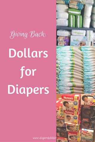 Giving Back Dollars for Diapers on Pinterest