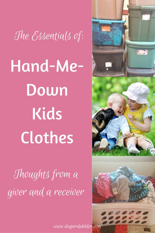 Hand Me Down Baby Kids Clothes