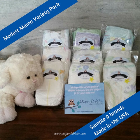 Modest Mama Diaper Variety Package Made in the USA