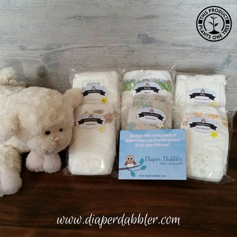 Mother Earth ecofriendly diaper variety package