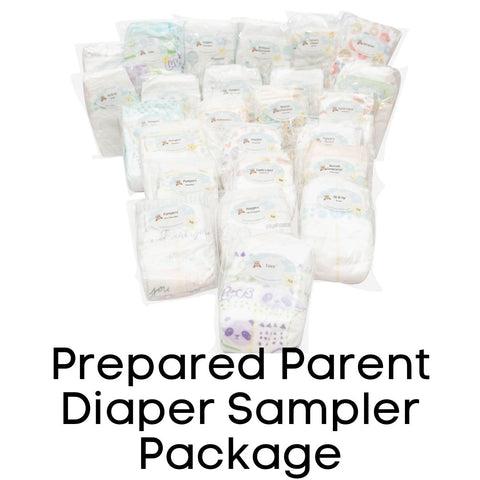 Photo of 24 Diaper Samples including Mama Bear, Kirkland Supreme, Up & Up Parent's Choice, Bambo Nature, Babyganics, ABBY&FINN, Earth's Best, Earth & Eden, ECO by Naty, Seventh Generation, Pampers Pure Protection, Huggies Little Snugglers, Huggies Snug &