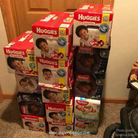 Diaper Stockpile Huggies