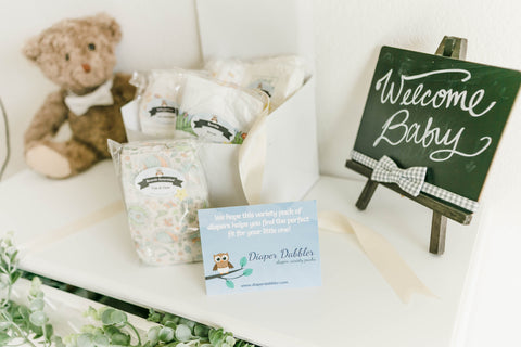 Diaper Sampler Packages Baby Shower Gift