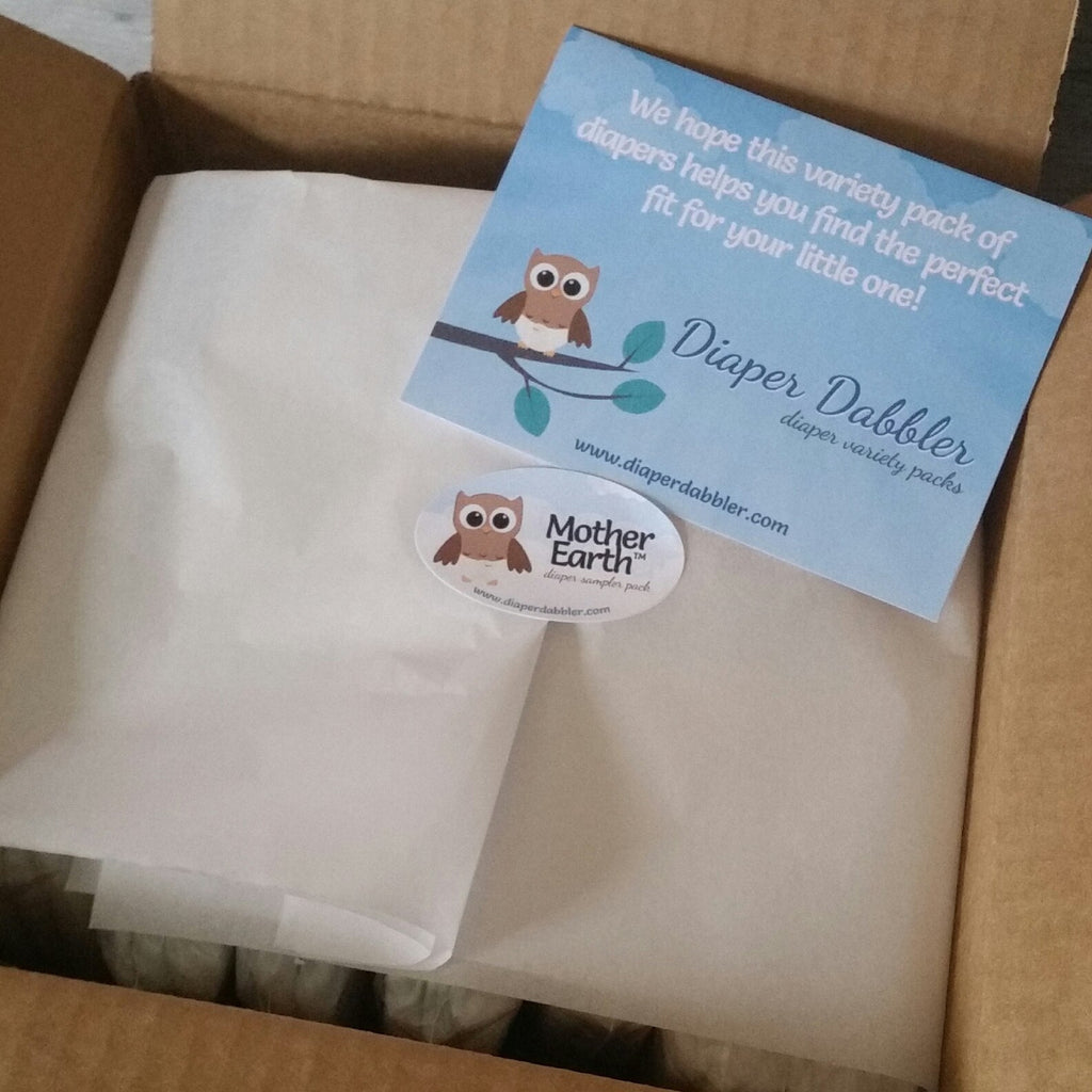Mother Earth variety pack of diaper samples