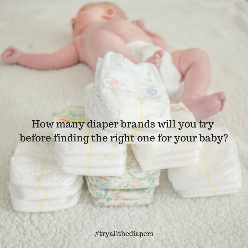 #tryallthediapers you want! More tha 20 brands eco-friendly, store brand, name brand