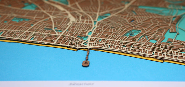 Commission your unique papercut street map now