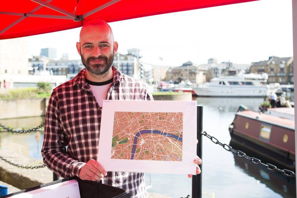 Andrew - owner of Plan B Creations - at Limehouse social market