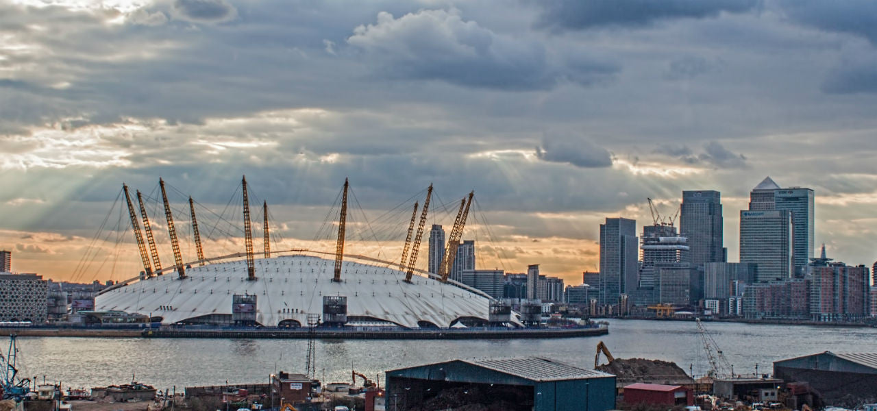 Greenwich and the o2 on the River Thames - London