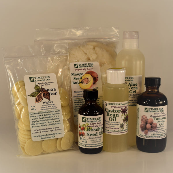 Organic Carrier Oils, Butters & Gels