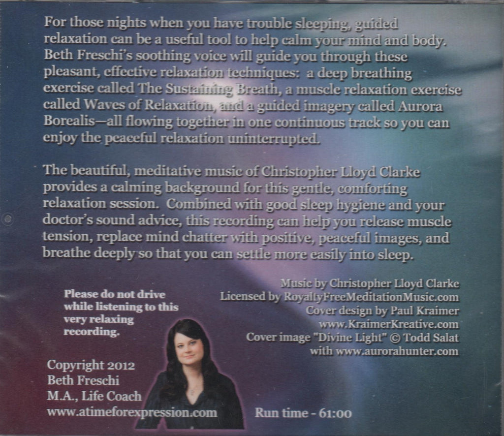 CD - A Time for Sleep: Guided Relaxation