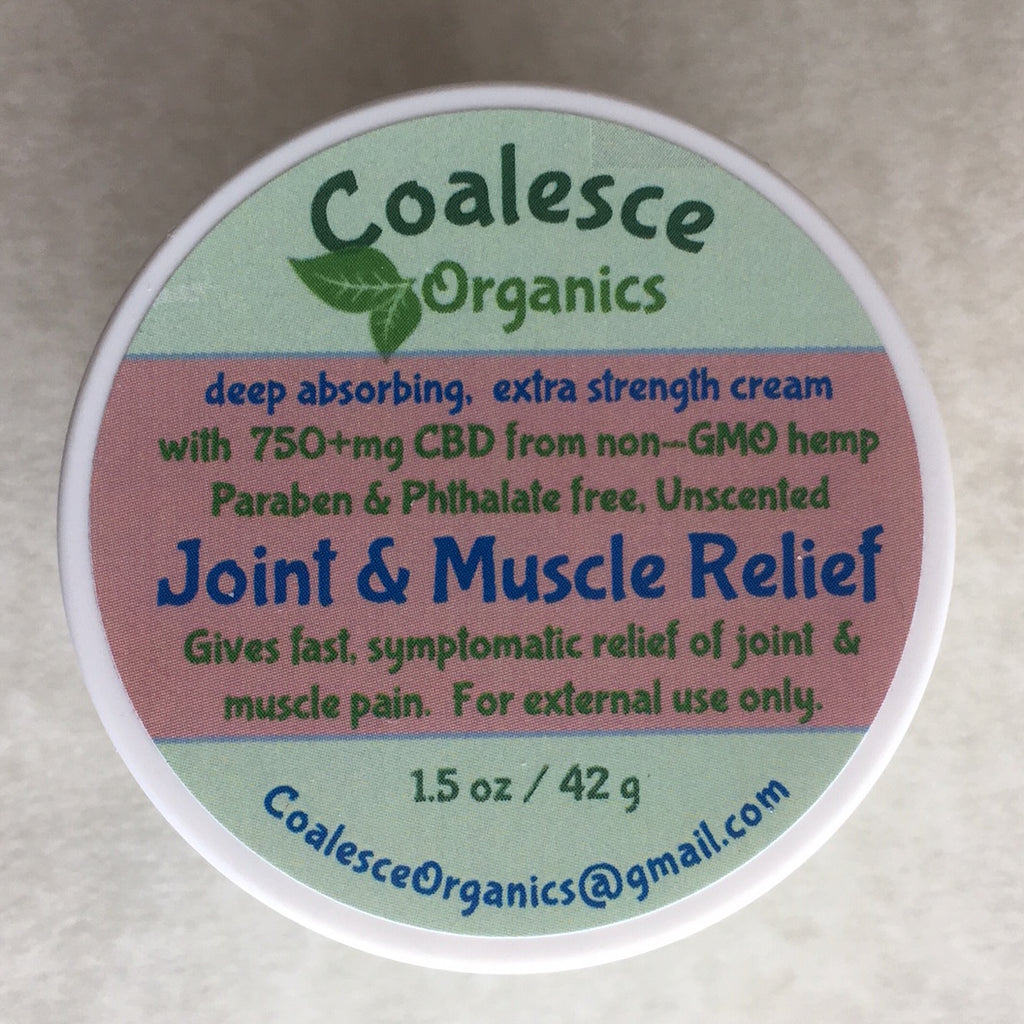 Coalesce Organics CBD Cream for Joints and Muscles