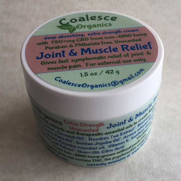 Joint & Muscle Relief Cream, Extra Strength, Unscented
